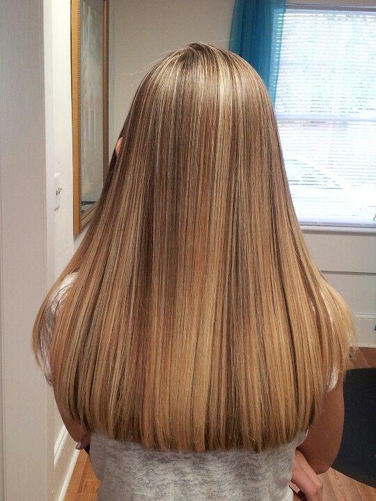 Braune haare highlights blonde Ombre Blond
