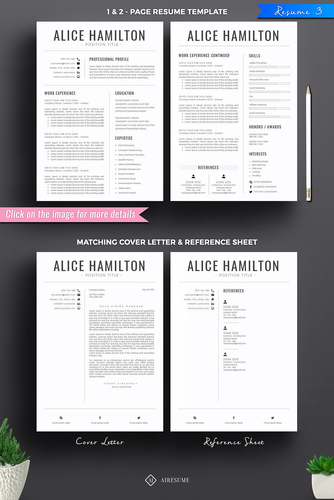 Resume/CV Mega Bundle Resume cv, Word 2007, Resume