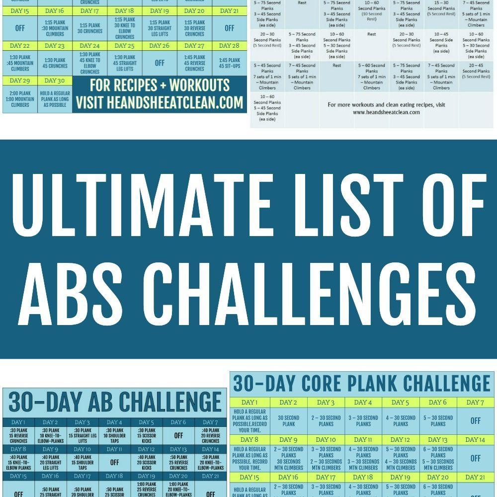 The Ultimate List of Abs Challenges #abchallenge The Ultimate List of Abs Challenges #fitness #worko...