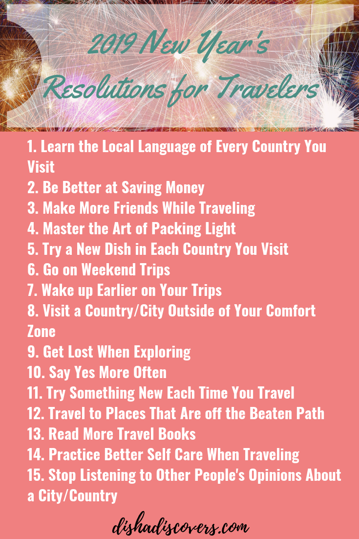 2019 New Year S Resolutions For Travelers Holiday Travel Destinations Top Travel Destinations Travel Motivation