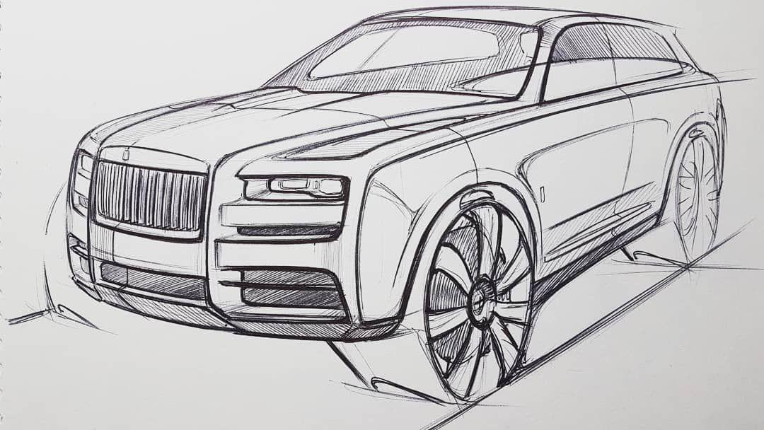 Rolls Royce Cullinan Sketch | S K E T C H | Car design ...