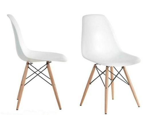 silla eames blanca base madera sillas eames envio gratis - Sillas Eames