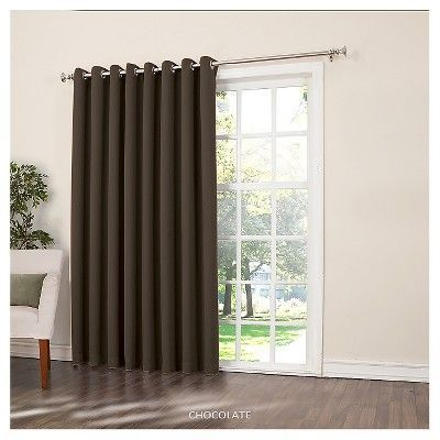 Seymour Extra Wide Energy Efficient Patio Door Curtain Panel