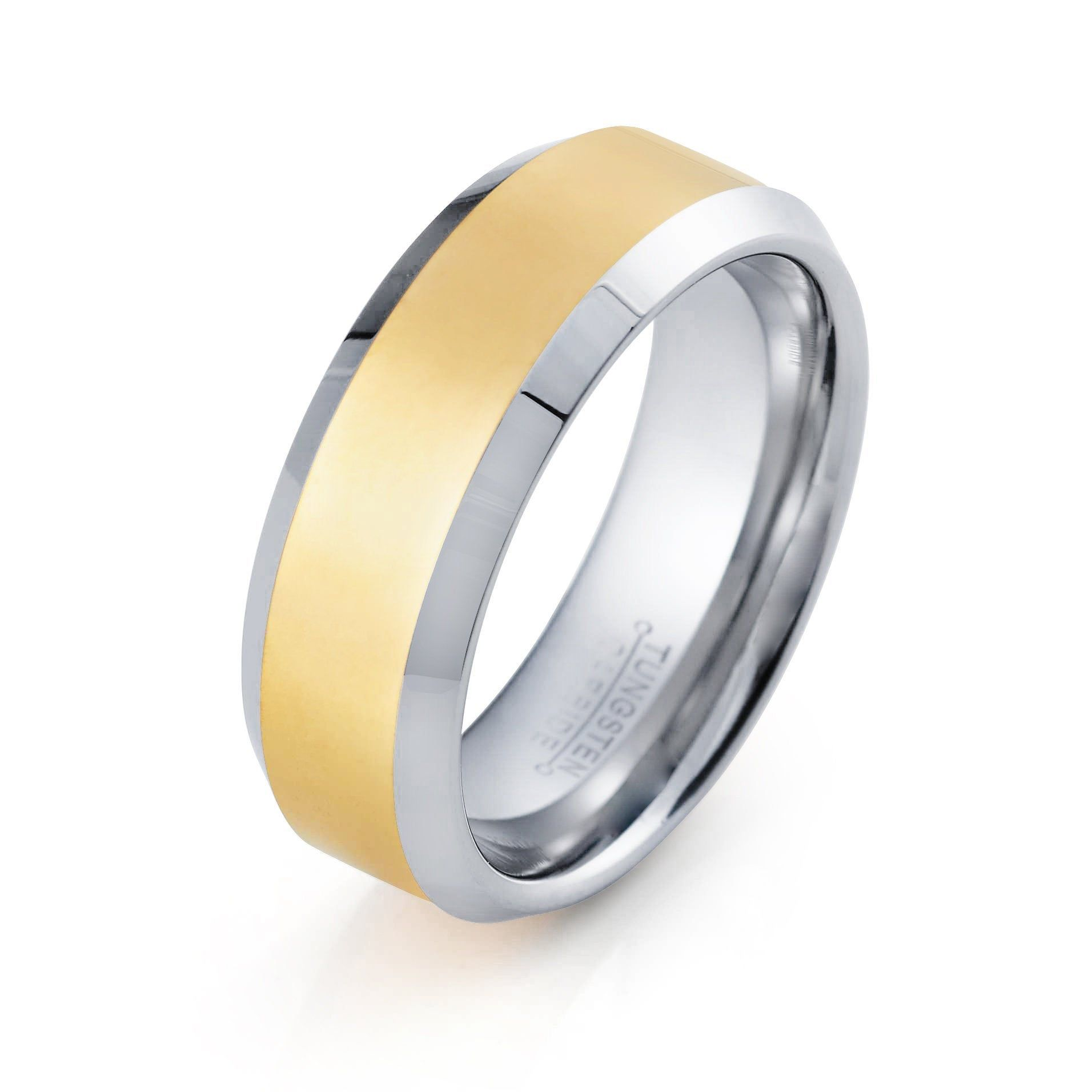Mens Wedding Band Tungsten Ring 8mm Yellow Gold Ring Silver And Yellow Ring Engagement An Gold Tungsten Ring Yellow Gold Wedding Band Tungsten Engagement Rings