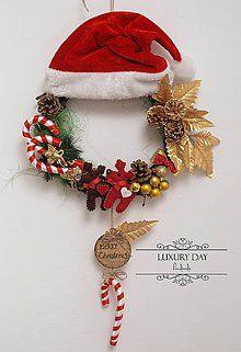 Dekorácie - Vianočný veniec - SOBÍK veľký - 4857532_