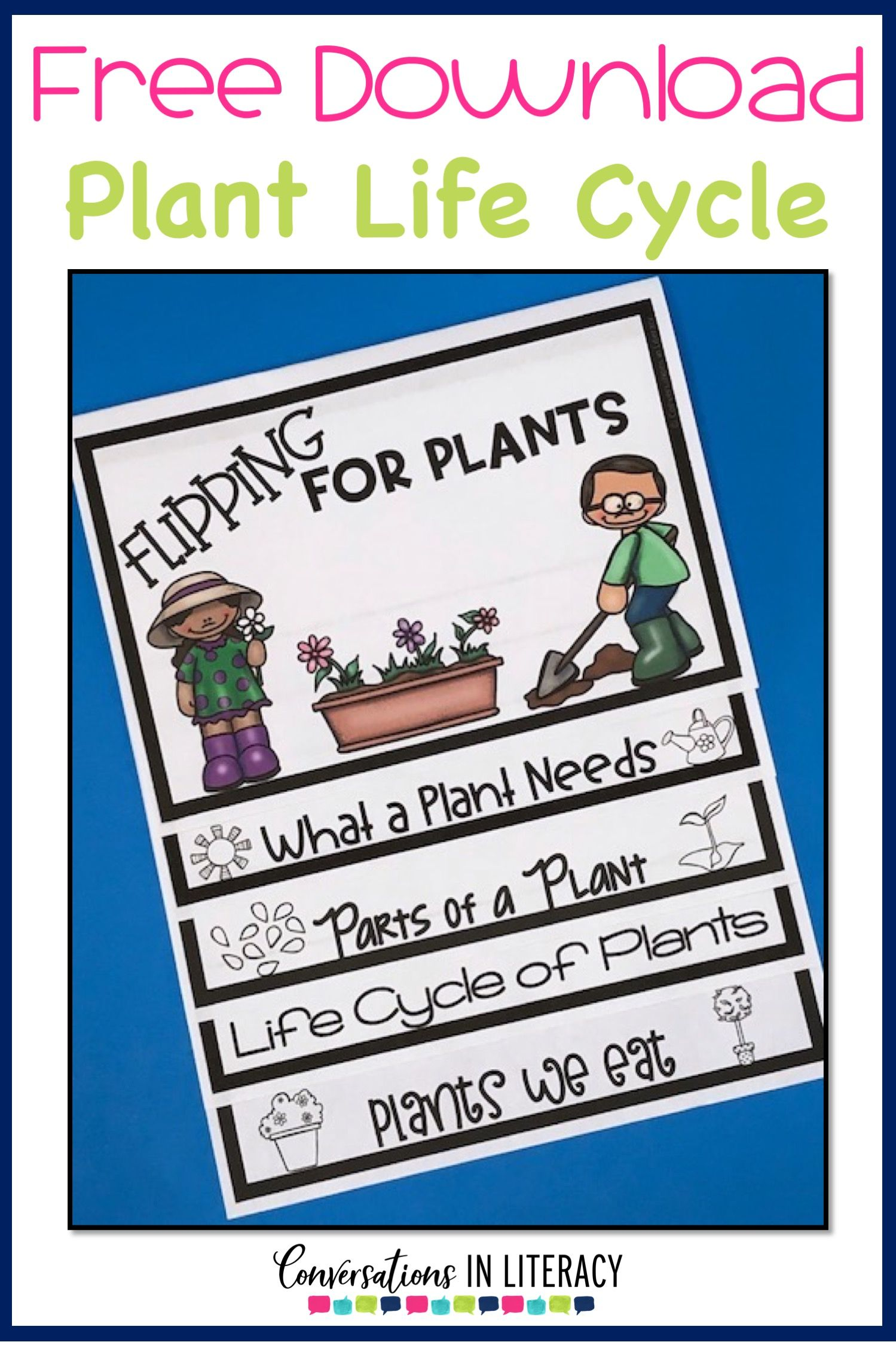 Free Plant Life Cycle Flip Book Printable Plant Life Cycle