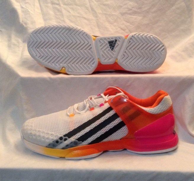 NEW Adidas Adizero Ubersonic White Orange Pink Mens Tennis