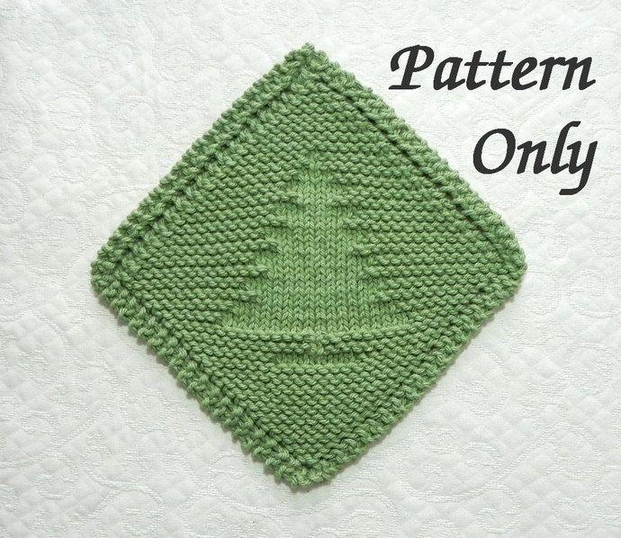 Diagonal Knit CHRISTMAS TREE Pattern, Grandmother\'s Favorite ...