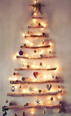 A Yule tree without a tree.  DIY Christmas tree. Home decor Boho woodland