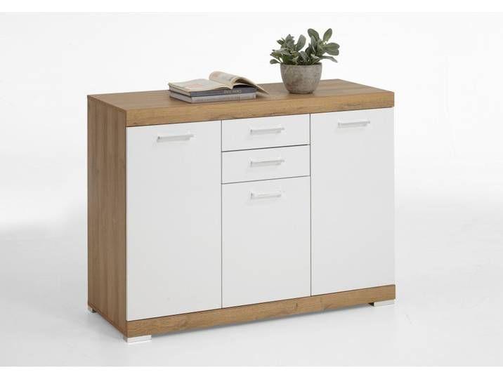 4020 303 Bristol 3 Xl Alteiche Nb Edelglanz Weiss Kommode Beistellko Locker Storage Filing Cabinet Storage