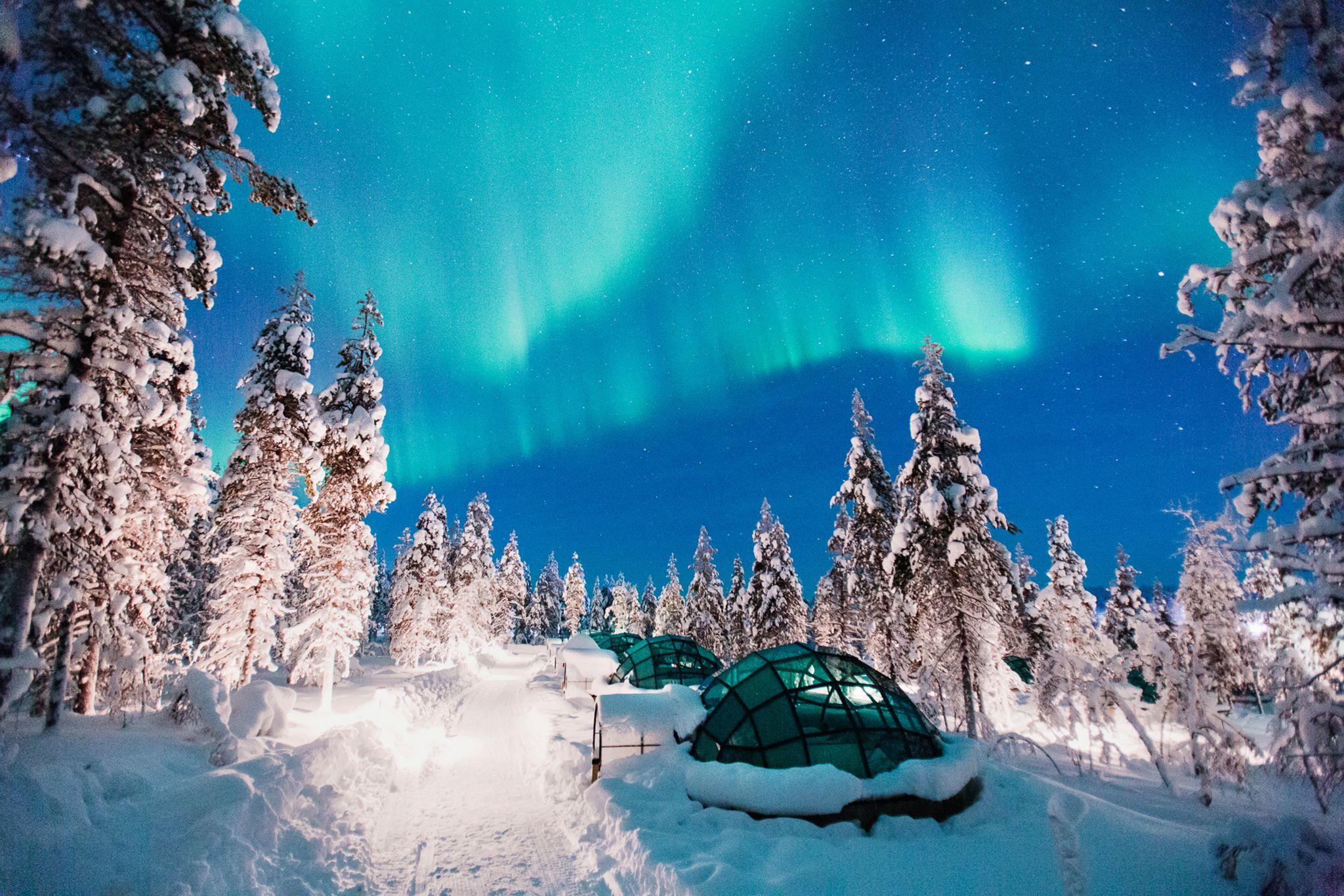 Image result for Kakslauttanen Hotel and Igloo Village, Finland - Northern Lights
