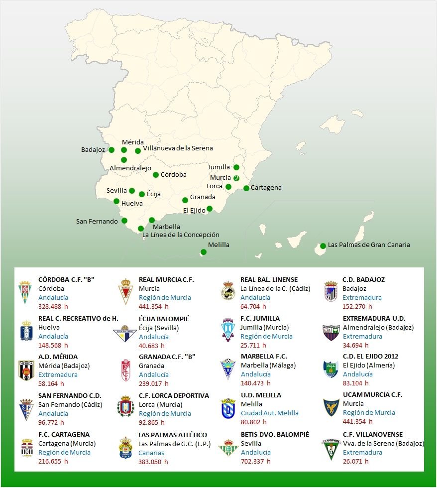 mapa localizacion segunda b grupo 4 17-18 | Hiszpania | Pinterest ...