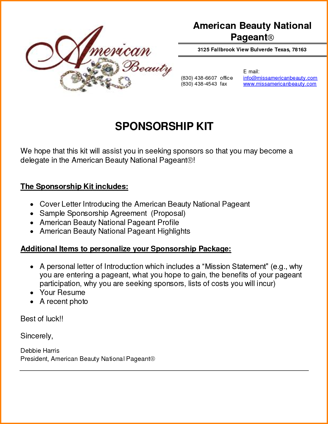 9  event sponsorship proposal
