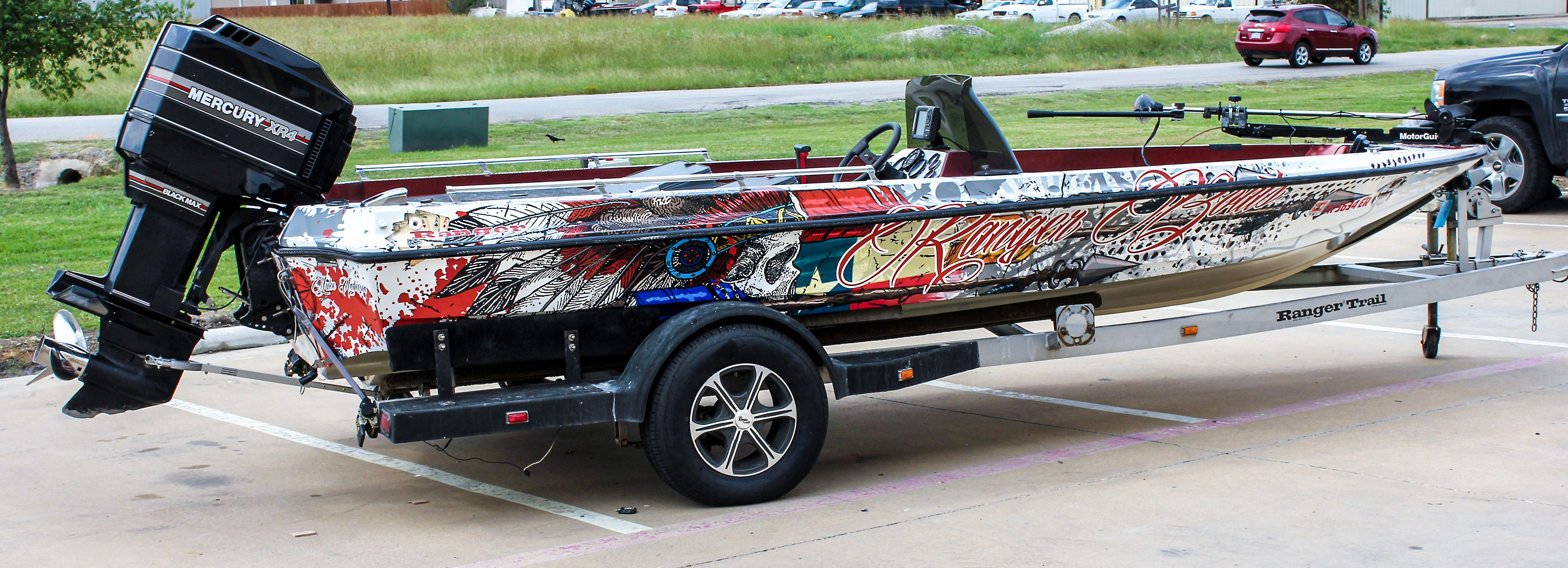 Texas Skull Boat Boat Wraps Pinterest Boat Wraps And Boating - Boat decalsamerican flag boat decals usa flag boat graphics xtreme digital