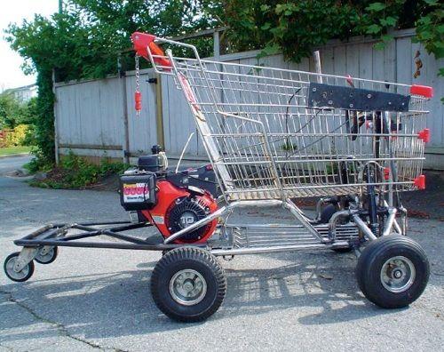How to Build a Shopping Cart Go-Kart | Go Kart | Go kart, Diy go