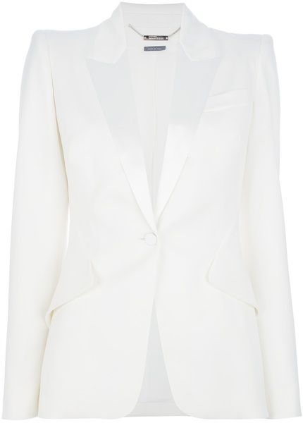 ALEXANDER MCQUEEN One Button Blazer Lyst | Simply Chic