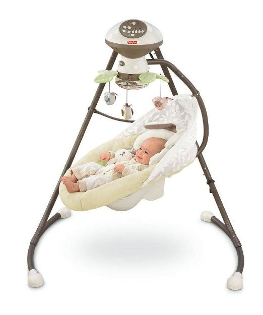 Fisher-Price Cradle 'N Swing, My Little Snugabunny: I adore this swing! It's a wonderful place for naps (and she stays asleep longer than in the crib!) and also helpful for soothing your crying baby. We use it every day.