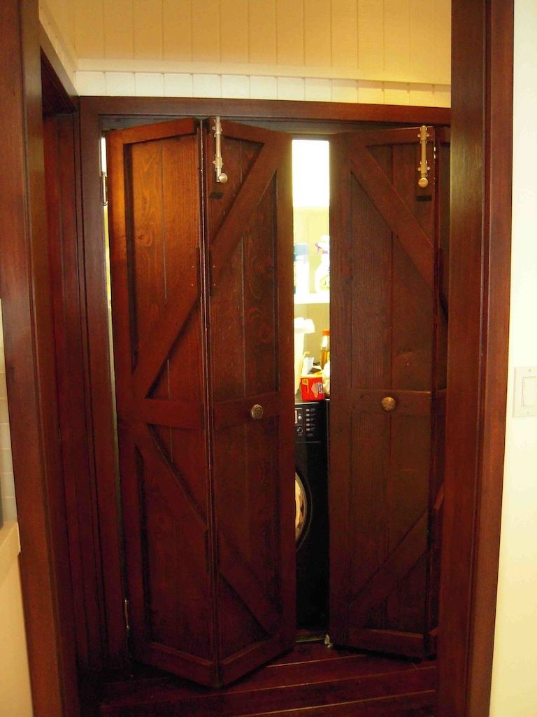 Hand Made Custom Reclaimed Wood Bi Fold Closet Doors For A Luxury Home In  Malibu