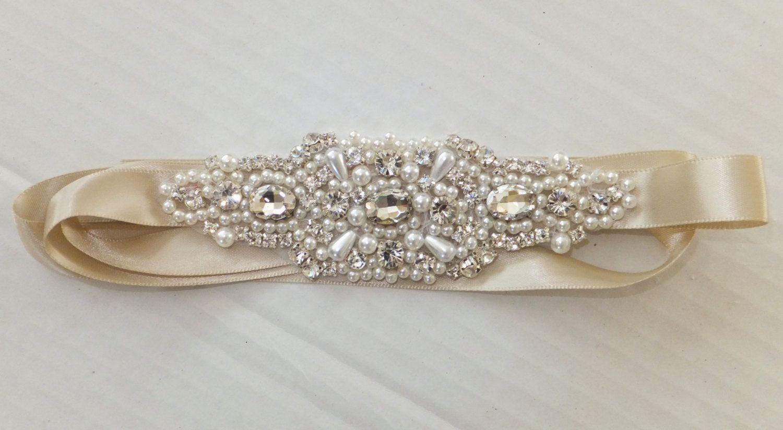 Wedding Belt BAILEY Bridal Sash Pearl Sash by