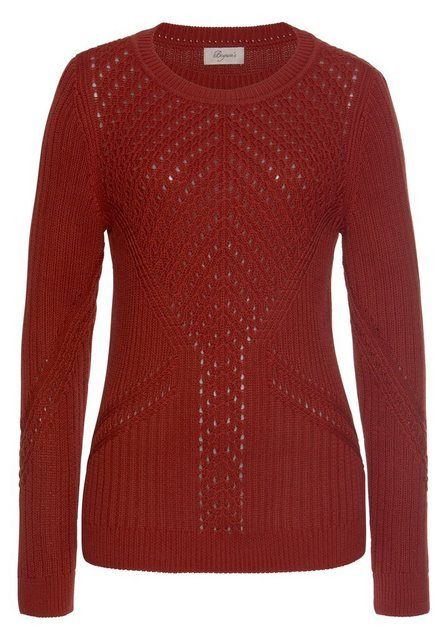 Photo of Buy Boysen 's Round Neck Sweater with an Elaborate Knit Pattern Online OTTO