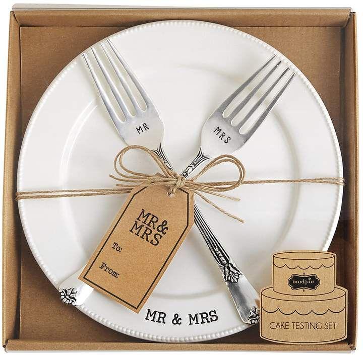 Mud pie wedding collection mr mrs cake testing plate