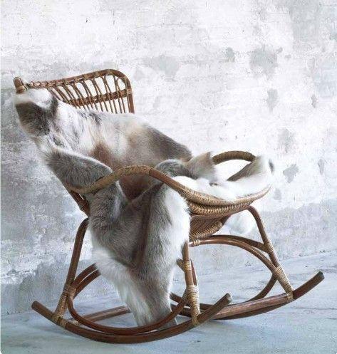 Rocking Chair En Rotin Sika Design Via Nat Et Nature