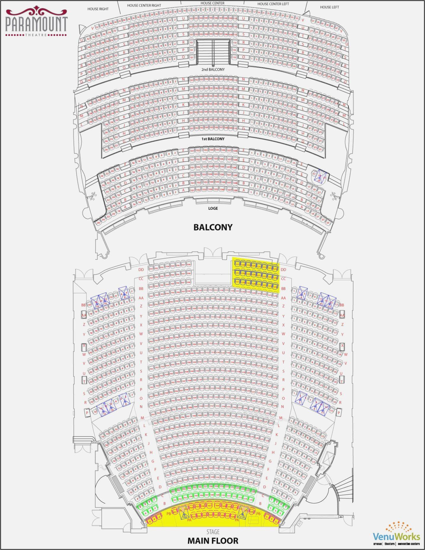 Orpheum Omaha Seating Chart Beautiful Orpheum Seating Chart Omaha Ne Seating Charts Oakdale Theater Seating