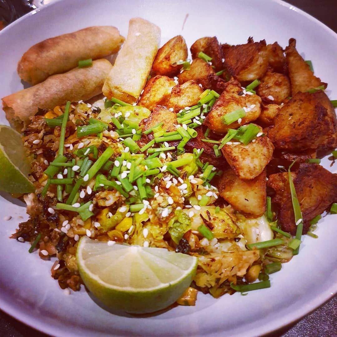 Cauliflower fried rice with sprouts corn kale and chives from my garden ginger and soy chikun and vegetable spring... #cauliflowerfriedrice Cauliflower fried rice with sprouts corn kale and chives from my garden ginger and soy chikun and vegetable spring... #cauliflowerfriedrice Cauliflower fried rice with sprouts corn kale and chives from my garden ginger and soy chikun and vegetable spring... #cauliflowerfriedrice Cauliflower fried rice with sprouts corn kale and chives from my garden ginger a #cauliflowerfriedrice