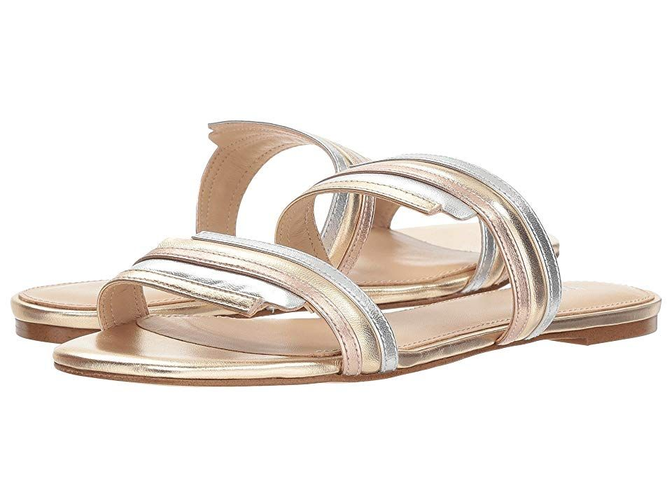 Botkier Maisie Ivory Multi Womens Shoes Give your look a modern impact with these sleek Botkier Maisie sandals Slides with leather and synthetic upper Opentoe silhouette...