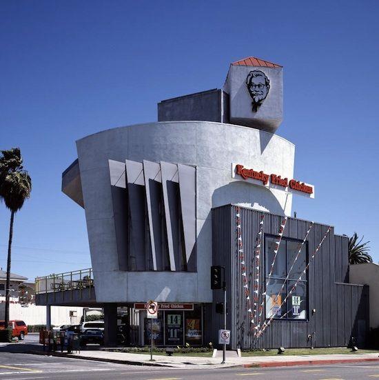 Kfc Franchise Los Angeles 340 N Western Avenue In Koreatown 1990 Jeffrey Daniels Unusual Buildings Building Architecture