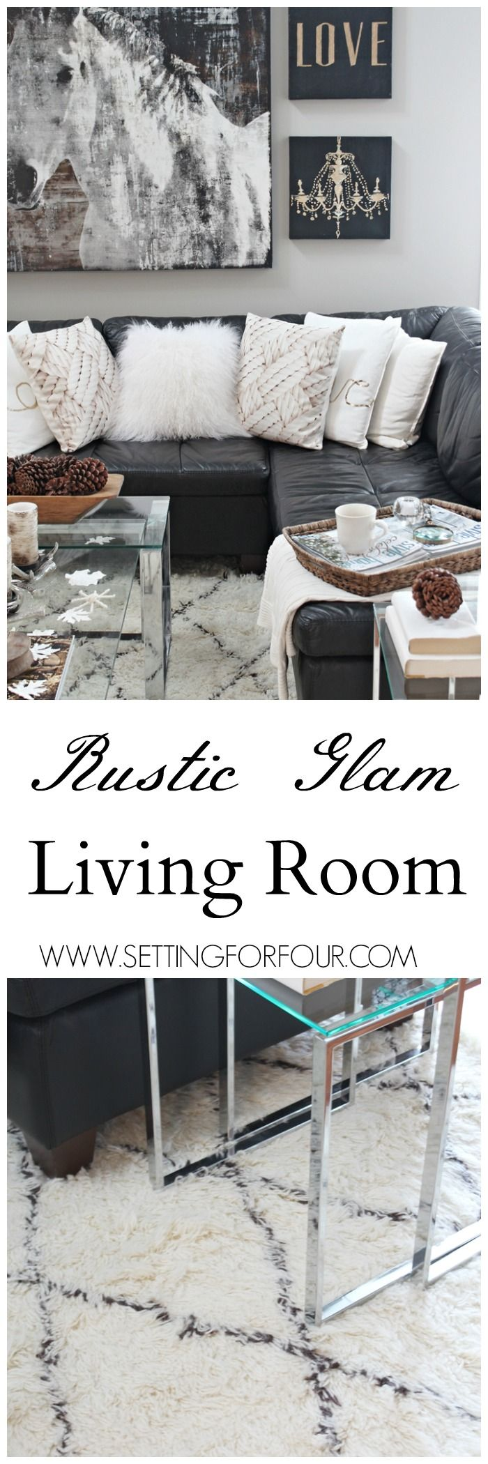 Rustic Glam Living Room New Rug Glam Living Room Rugs