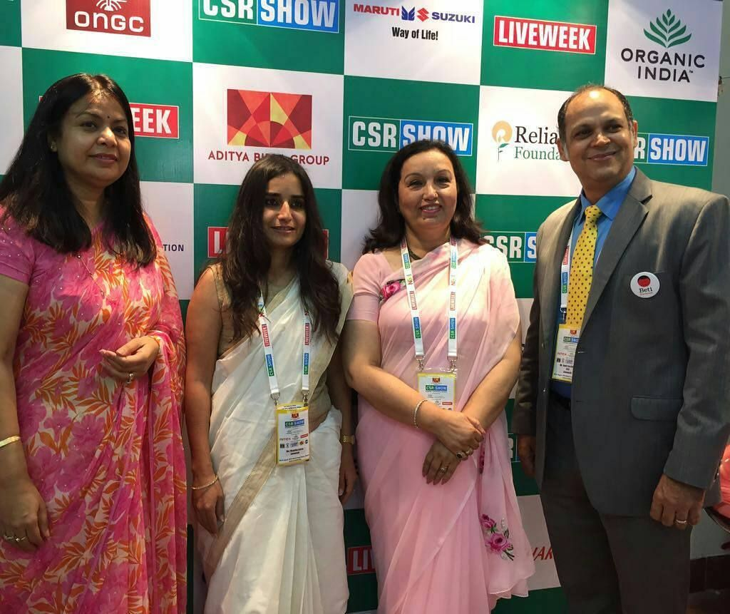 The #CSR Live week #conference on CSR for  Good and its impact in #Mumbai discussed future opportunities and sustainability. Ms. Vrinda Raje Singh CEO Joint Custodianship Initiatives MMCF represented #MMCF [http://goo.gl/ExrN8g] at the conference.  Left to Right: Ms. @vrinda_raje Singh CEO Joint Custodianship Initiatives MMCF|  Ms. Mugdha Arora Project Head Liveweek Business | MrsMohiniDaljeet Singh CEO - Max Foundation | Mr. Amit Sachdeva CEO Liveweek Business…