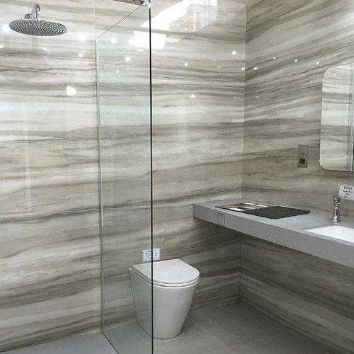 Luxury Hotel Shower Room Featuring Marmara Equator Onyx Look Porcelain Tiles Which Amazing And Quite Unusual Bathroom