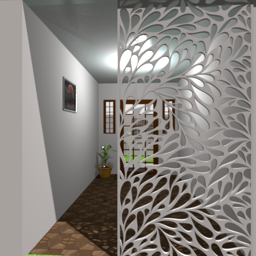 Leaves ornamental panel jali screen partition designs for Armoire couloir design