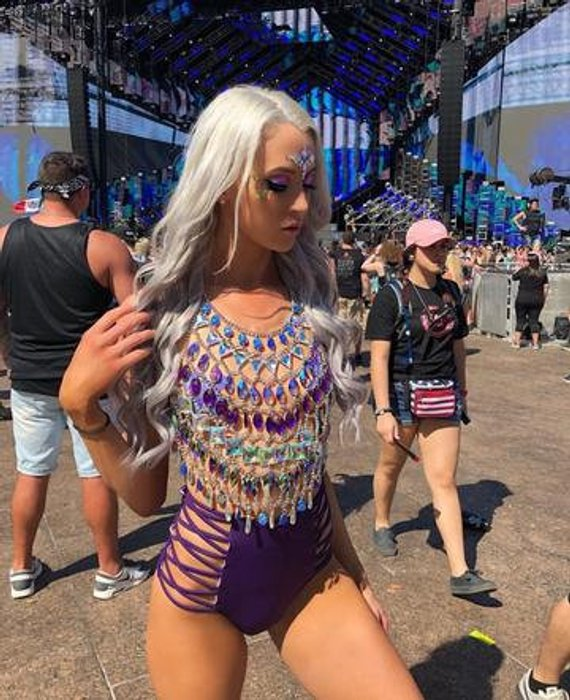 Purple Queen Body Chain Jewelry Burning Man Outfit Edc Outfit