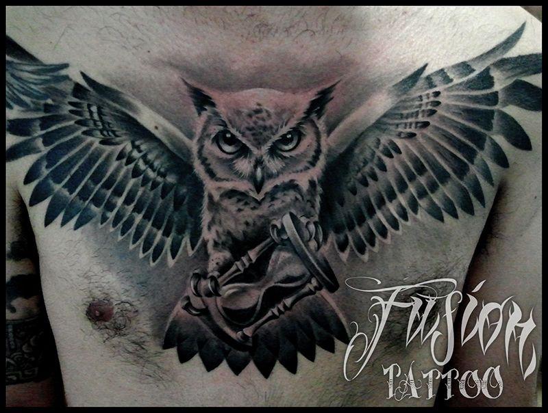 Buho en el pecho owls Pinterest Tatoo and Tattoo