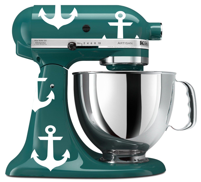 Kitchenaid Mixer Nautical Anchor Vinyl Decals My
