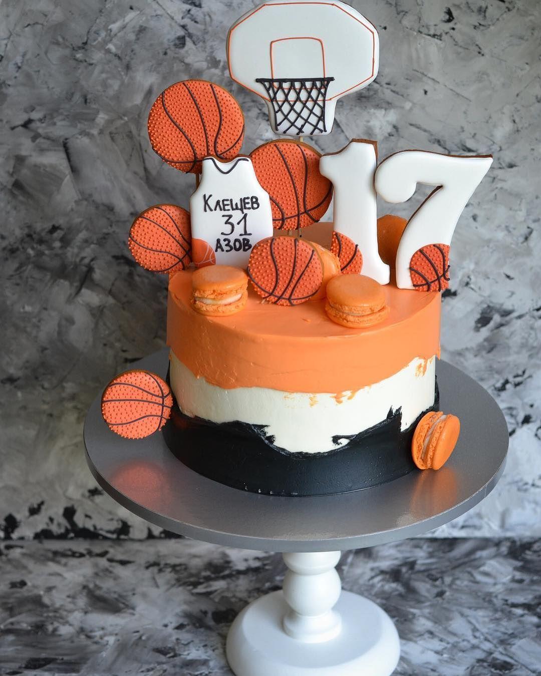 нет описания фото Birthday Cake For Him Basketball Cake Basketball Birthday Cake