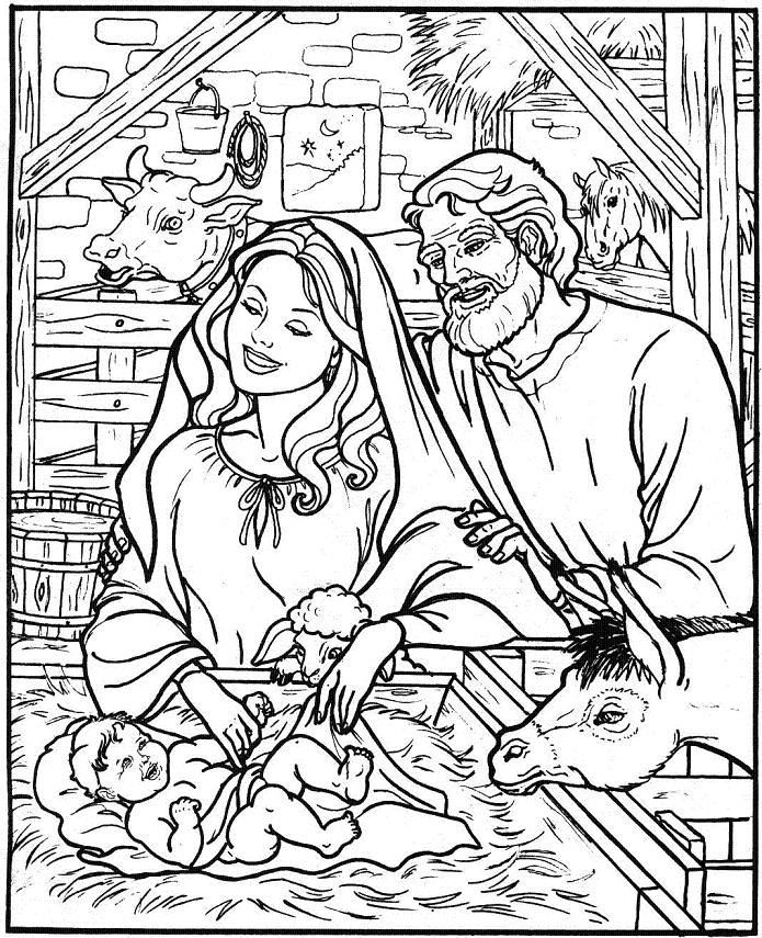 Nativity Coloring Pages Homeschool