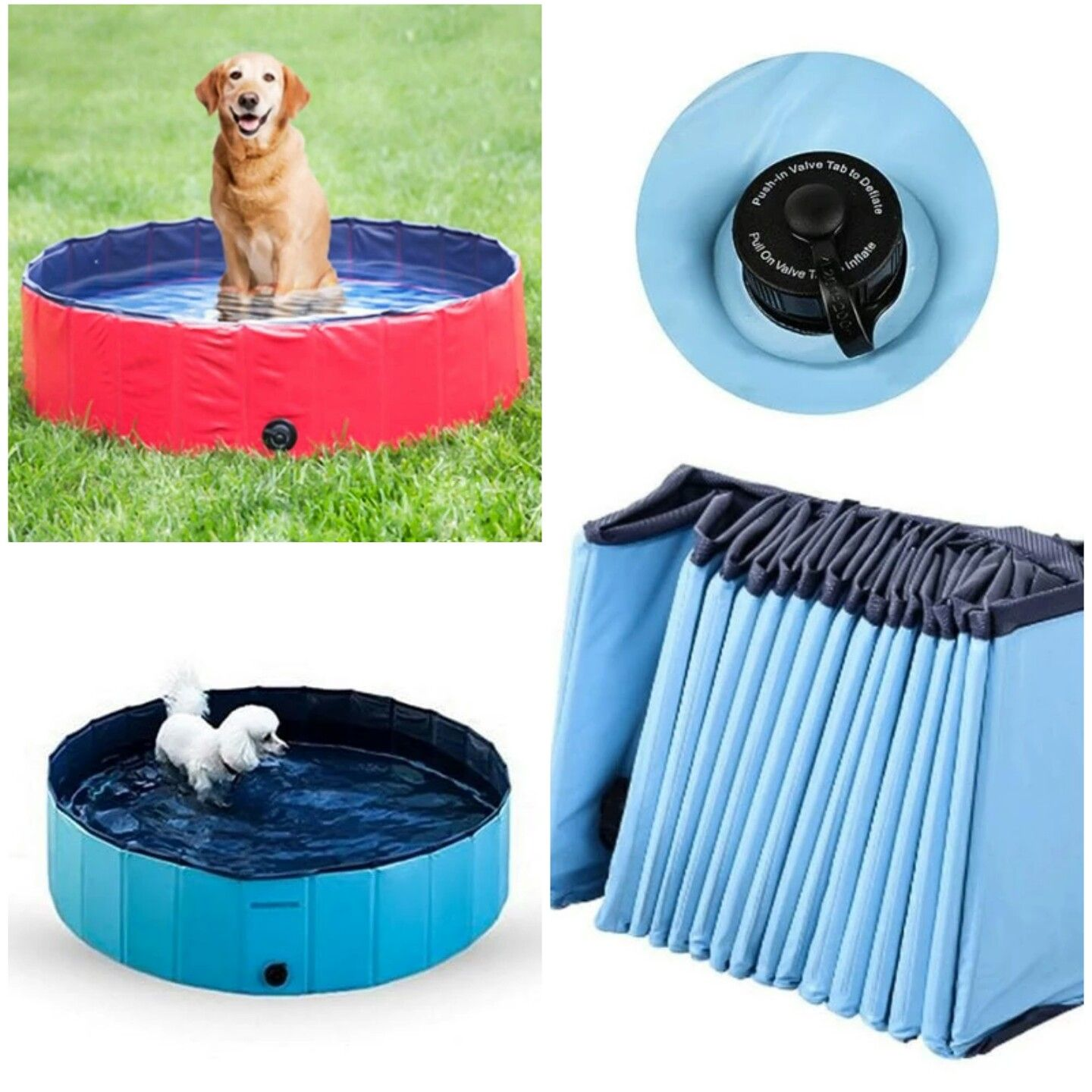 New Fordable Dog Pool Pet Bath Swimming Tub Pets Dogs Puppies