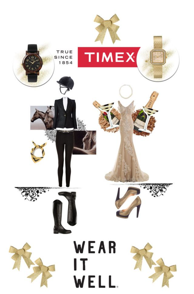 """Amazon Or Princess? Choose your style For Timex Contest Entry: How will you #WearItWell this holiday season?"" by emi-the-queen ❤ liked on Polyvore featuring Timex, Lanvin, Gucci, Balenciaga, Balmain, Illamasqua, Chanel, Giovane, LSA International and Hermès"
