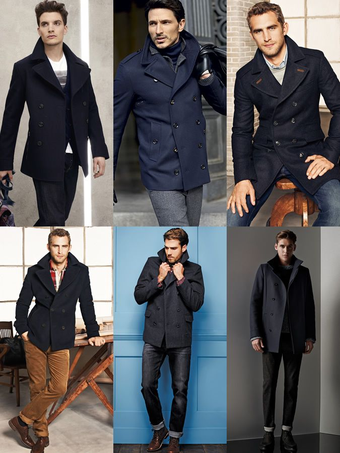 Men's Navy Pea Coat Outfit Inspiration Lookbook | Lookbook ...