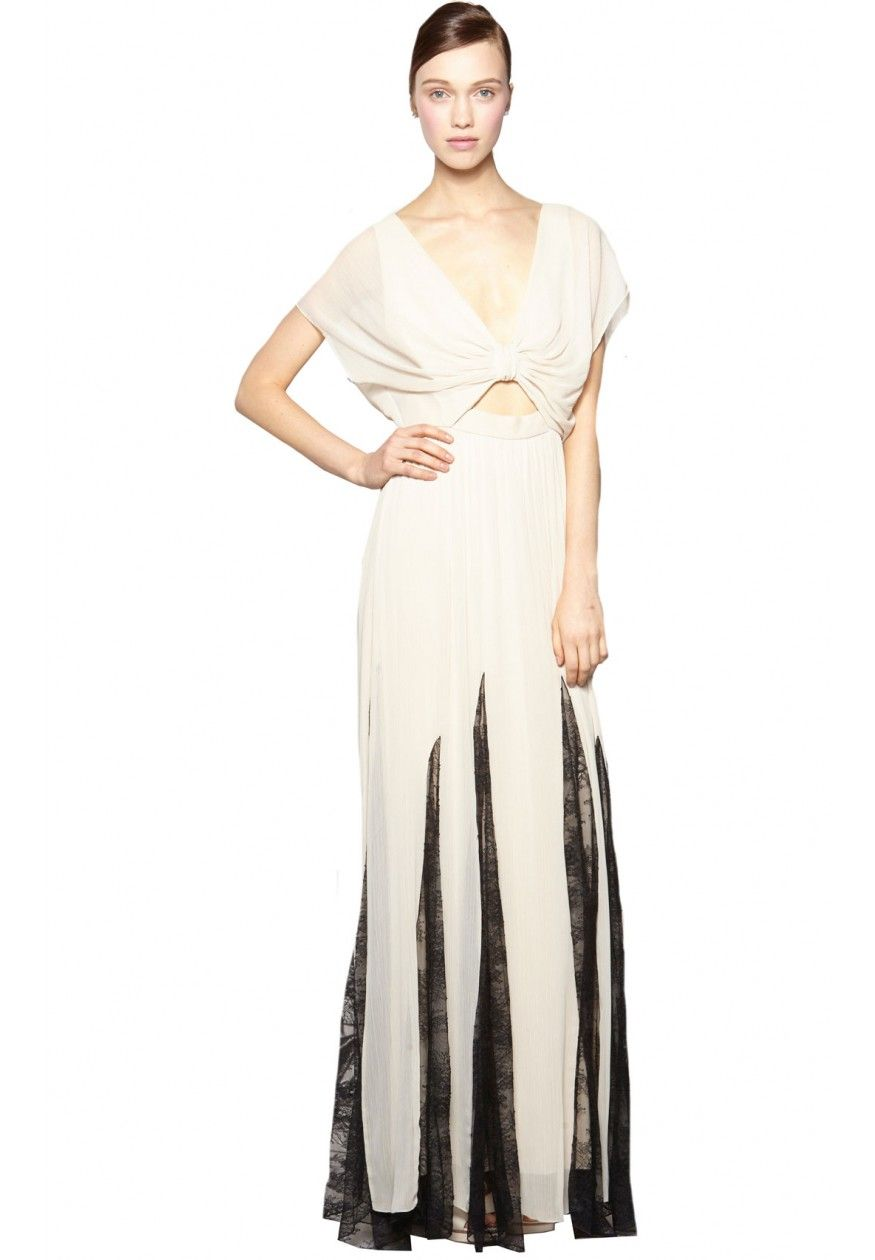 Ginevia knotted front maxi dress