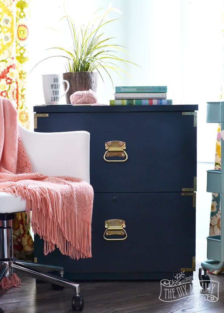 A Campaign Dresser Inspired Filing Cabinet Makeover + Win the Entire Amanda Forrest FAT Paint Collection! (Ends 03/07)