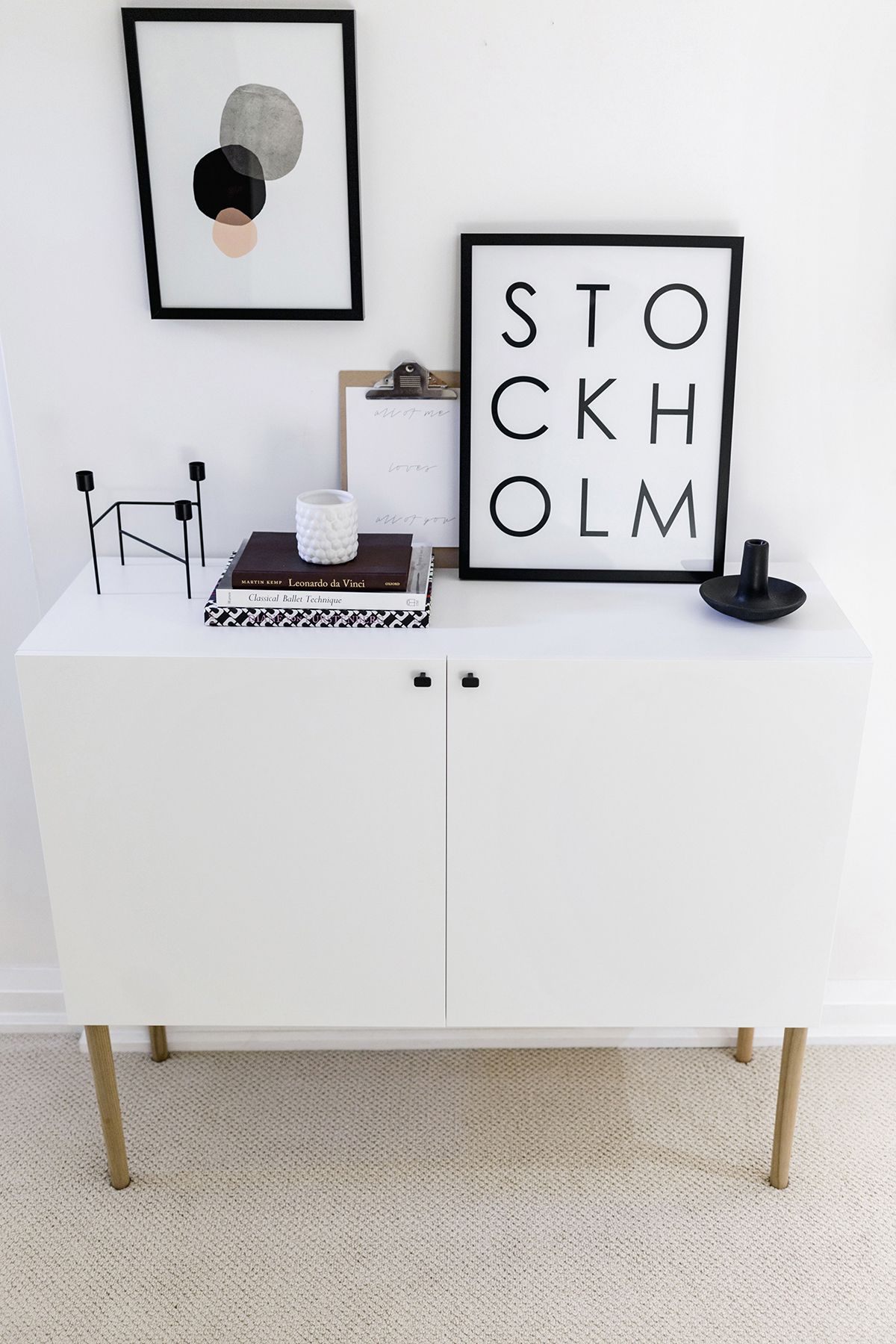 ikea besta hack scandinavian sideboard cabinet tutorial by happy grey lucky happy grey. Black Bedroom Furniture Sets. Home Design Ideas