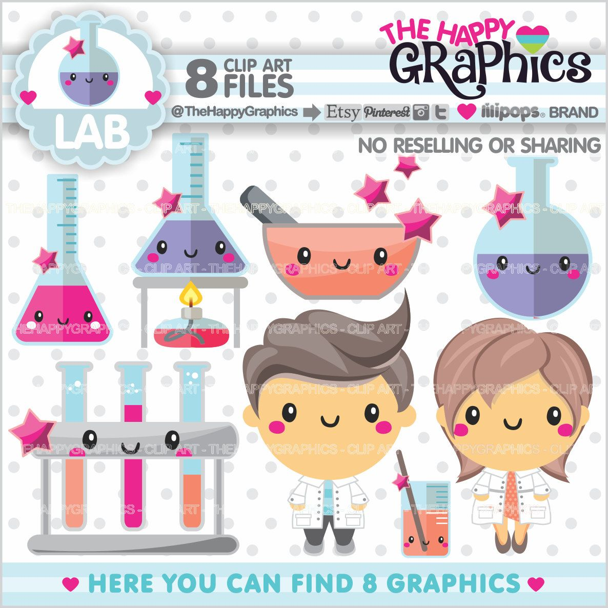 lab clipart lab graphic commercial use kawaii clipart