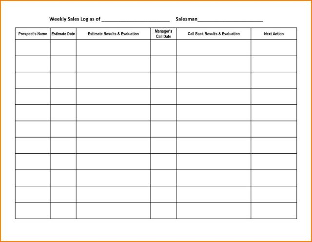 Customer Service Call Log Template Excel  Workouts Log Templates