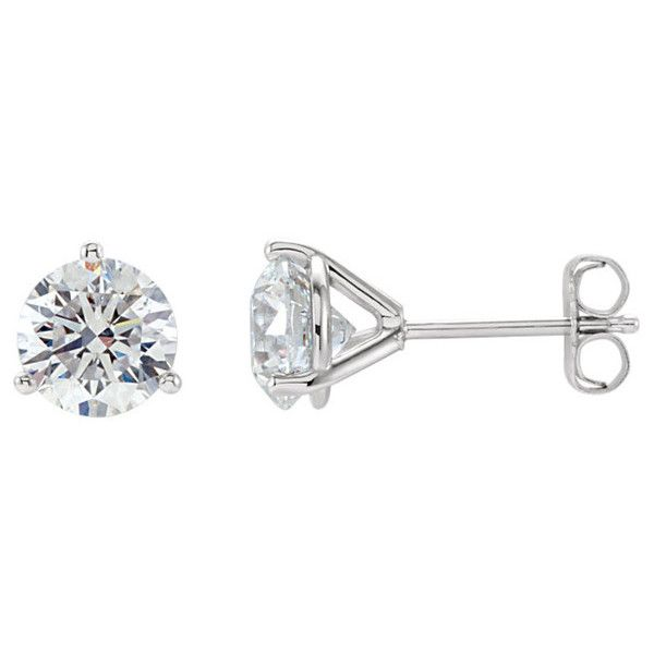 1 4 Carat 3 Prong Diamond Stud Earrings 24 990 Inr Liked On Polyvore Featuring Jewelry Earrings Access Diamond Earrings Studs Diamond Studs Stud Earrings