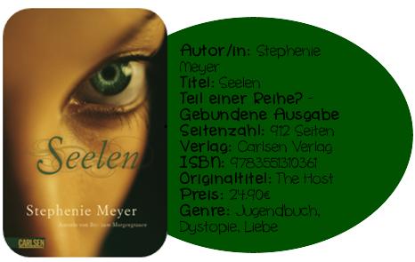 Mit Seelen hat Stephenie Meyer meine Erwartungen absolut übertroffen– was ich auf den ersten 100 Seiten nicht gedacht hätte. Doch als der etwas langatmige Anfang überwunden war, konnte mich die Geschichte von Wanda und Melanie mit ihren Emotionen sehr berühren. Desweiteren besticht das Buch mit einem wunderbaren Setting, das von großer Fantasie und Ideenreichtum der Autorin zeugt. Wer Seelen bisher also noch nicht gelesen hat, sollte es auf jeden Fall sofort nachholen.