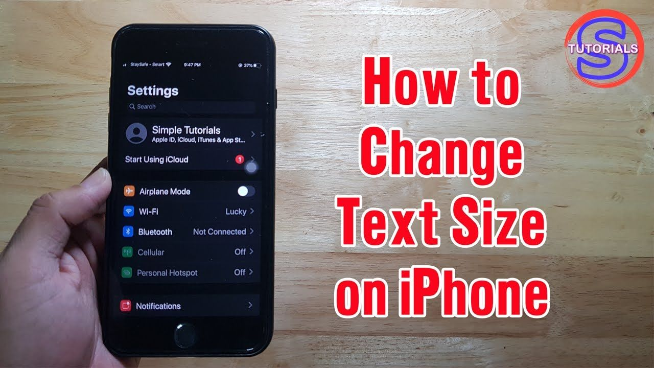 How To Change Text Size On Iphone Simple Tutorials In 2020 Iphone Texts Change Text Tutorial